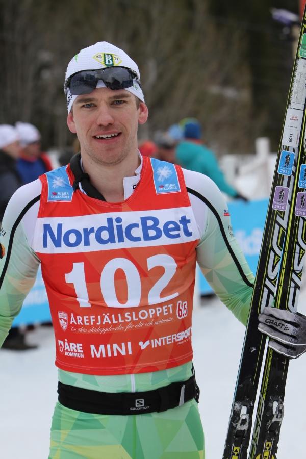 Robert Eriksson, killen med flera fina segrar på långloppen i vintras