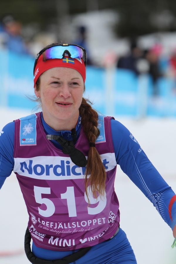 Helene Söderlund körde flera långlopp i vinter. Kul!