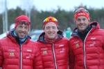Trio från Team Santander, Anders Aukland, Øyvind Moen Fjeld och Jørgen Aukland