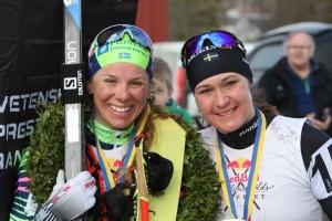 Lina Korsgren och Britta Johansson Norgren, två tjejer som skidsverige är väldigt glada att ha!