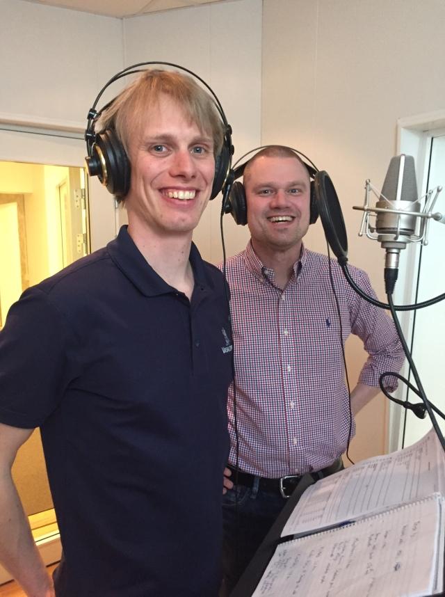 John Lindskog och jag i studion