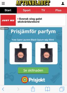 Aftonbladet 1 april 2016. 24-timmars överst.