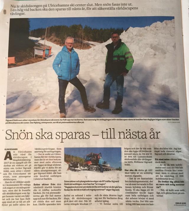 Borås Tidning 4 april 2016
