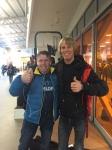 Mikael Kulanko träffade jag på flygplatsen i Luleå. Jag har senaste fem år åkt alla loppen i Vasaloppsveckan. En kämpe. Nu går han igenom cellgiftsbehandling mot sin hudcancer. Inget hinder för att köra 20 mil i morgon.