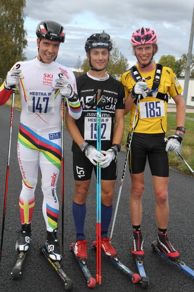 Rickard Bergengren, Marcus Johansson och Erik Wickström, pallen i Höstrullen 2015