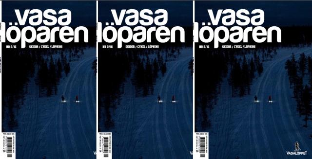Omslaget till Vasalöparens aprilnummer är för första gången helt utan puffar till formgivar-Anders stora förtjusning