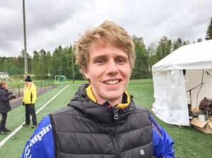 Filip Johansson sprang på 38.58 min