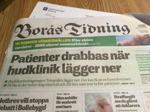 De lyckades ta sig till toppen av Borås Tidnings förstasida. De tog 4000 patienter per år och sjukhuset 12 000 patienter.