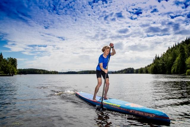 Erik Wickström SUP stående paddling