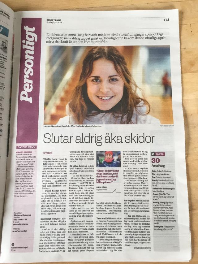 TT-artikel i Borås Tidning idag.