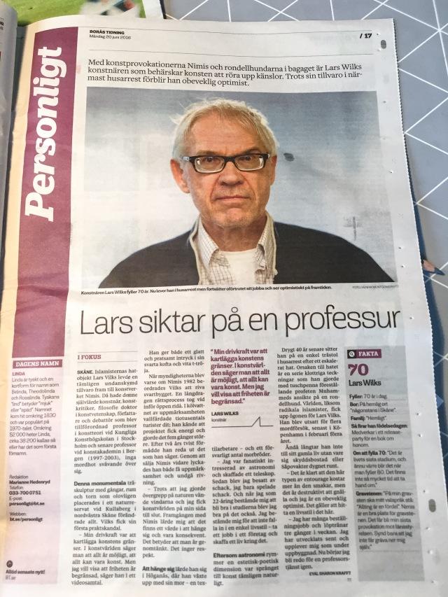 Lars Vilks Borås Tidning