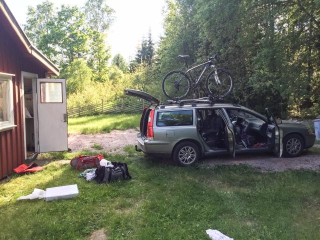 En typsik syn när familjen Wickström har anlänt