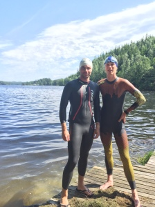 Robert Malmgren och jag. Colting Wetsuit triathlon sitter som en smäck.
