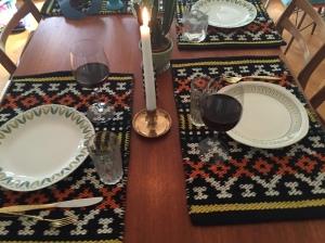 Att härligt att komma till dukat bord