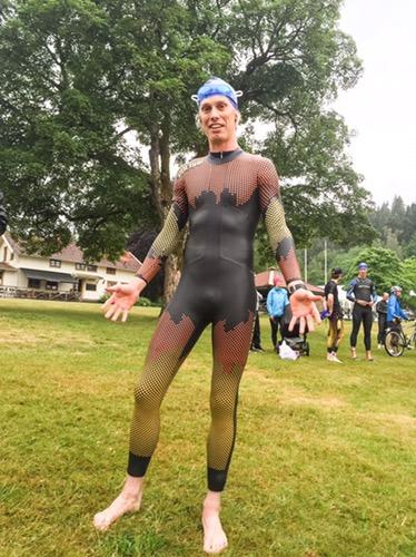 Inför simning vid Borås Triathlon 2016