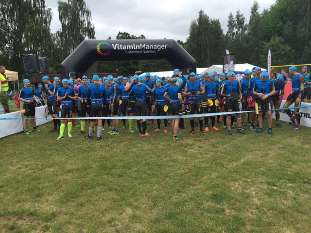 Start herrklassen Borås Swimrun 2016