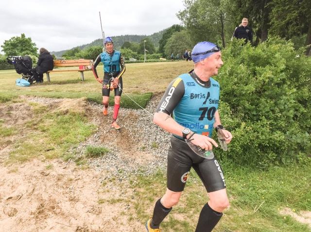Petter körde Borås Swimrun för tredje året i rad, i år med sin fru istället för med Micke Rosén