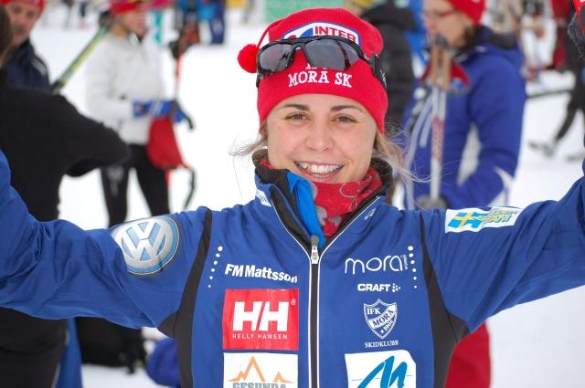 Anna Haag vid världscupen i Beitostølen 2009