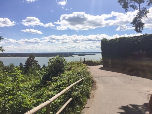 Fint utsikt över Bråviken från Restaurang Safari på Kolmården