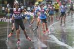 Anton Lindblad kan åka rullskidor i regnväder