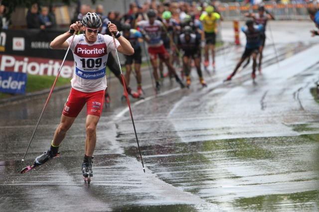 Luckan på några sekunder Gustav Nordström hade i slutet av loppet var den största luckan någon hade, åtminstone där jag stod