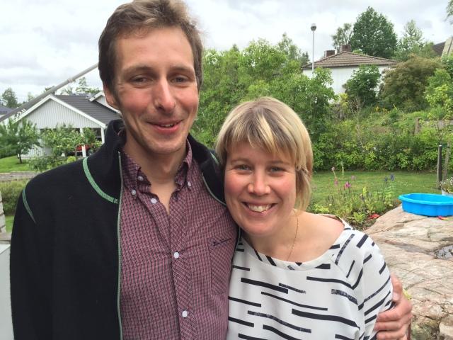 David Höglund och Sara Mangsbo från Uppsala. Lika trevligt att ha dem på besök i år som förra året!