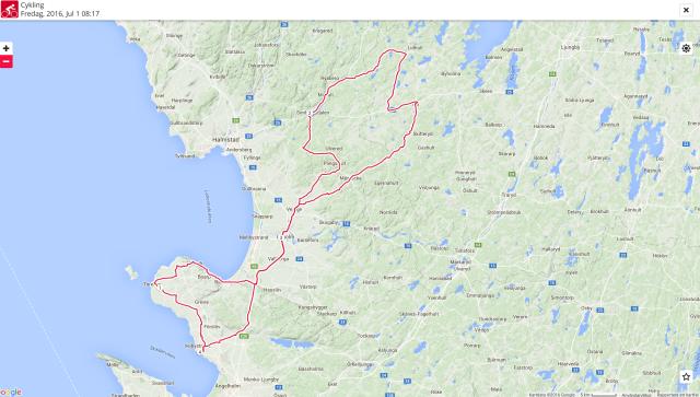 21 mil på cykel