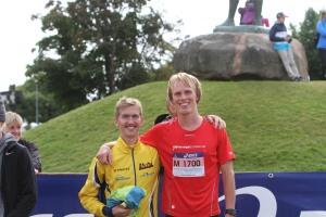 """Kul att träffa 8:an Elov Olsson, som började springa 2011. Han har kört 24 h-lopp i löpning och verkade oberörd efter denna """"sprint"""". Jag tror han kommer att slå Rune Larssons gamla svenska 24 h-rekord innan två år."""
