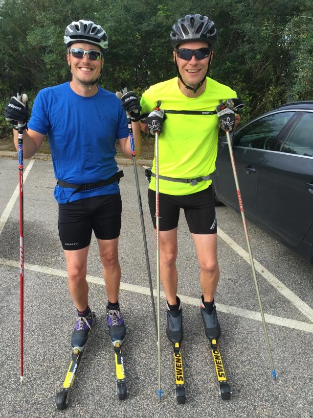 Erik Thiberg och Magnus Samuelsson. Genom olika rullmotstånd gick det bra att åka ihop.