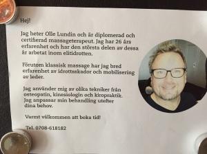 Hör gärna med Olle om du vill ha en behandling. Han håller till i Borås.