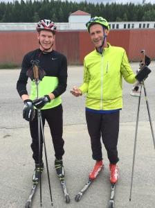 Christer Norström med son var på besök i Borås i förra veckan