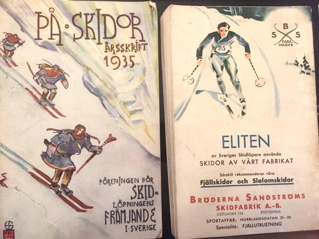 Skidböcker från 1930-talet