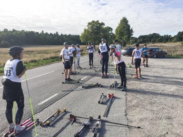 Dags för testrundan vid Drottningsholm för deltagarna