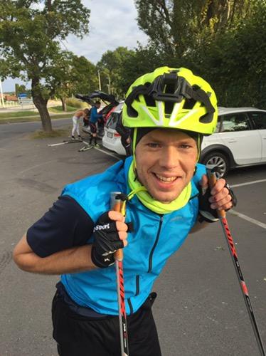 Joakim Olsson körde igår sitt tredje rullskidspass och idag sitt fjärde. Härlig nykomling i CCC1000 i år.