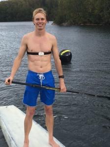 Kul att köra stående paddling igen. Dock inte för händerna, som fick några blåsor.