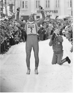 Sven-Åke Lundbäck vinner sitt enda Vasaloppet, 1981. Foto: Vasaloppet.