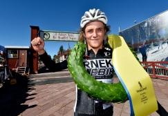 Lucas Eriksson är boråsare och vann Cykelvasan 90. Foto: Nisse Schmidt/Vasaloppet.