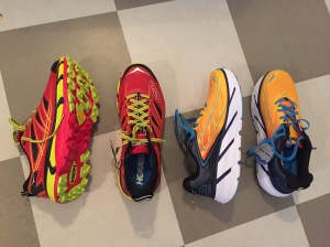 Hoka One One Clifton 3 och Mafate Speed 2