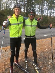 Christophe Zaninotti och jag innan stakintervallerna igår