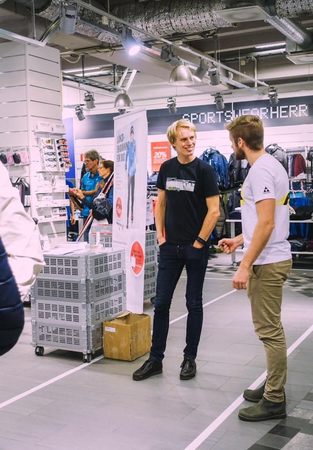Martin Liljemark, tidigare storskidåkare, jobbar numera för Sportmarket