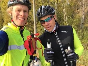 Z klagade ganska våldsamt på Erik Thibergs (ej på bilden) utrustning, som till stor del är ärvd av mig. Att träna med Z utan att vara rätt klädd är inget jag rekommenderar.