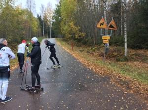 Starten av Tossebergsklätten, drygt 2 km, drygt 200 höjdmeter