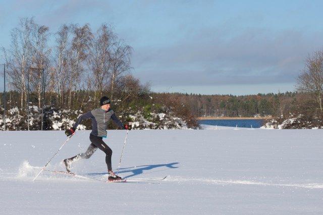 Lössnöåkning i Stockholm. Foto: Sofie Lantto.