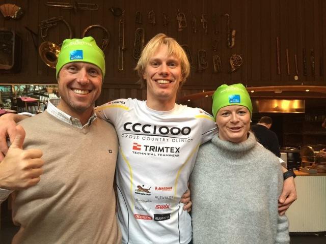 Fredrik Erixon, jag och Catharina Söderström. Catharina är med för andra året och är väldigt mycket bättre i år än förra året vid samma tid. Kul!