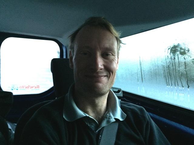 Johan Söderberg från Borås har stuga i Storhogna. Han är inte med i CCC1000, men vi reste upp ihop. Johan är alltid trevlig att prata med och är lika på flera sätt.