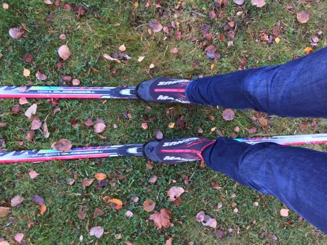 Blött gräs glider ok, men rimfrost glider bättre