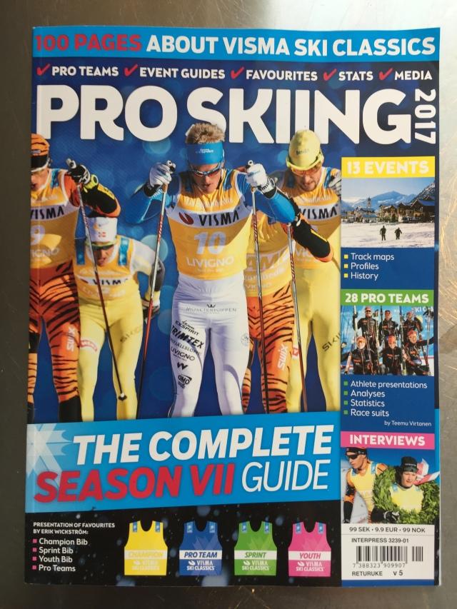 Pro Skiing 2017. Tidning om den internationella långloppscupen Visma Ski Classics.