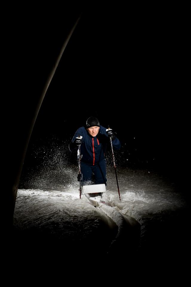 Anders Olsson stiski i Torsby Ski Tunnel. Foto: Luca Mara.