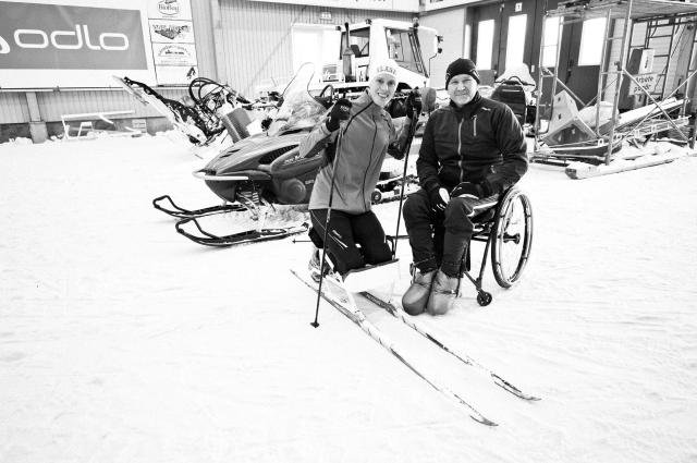 Anders Olsson och jag i Torsby Ski Tunnel oktober 2011. Foto: Luca Mara.