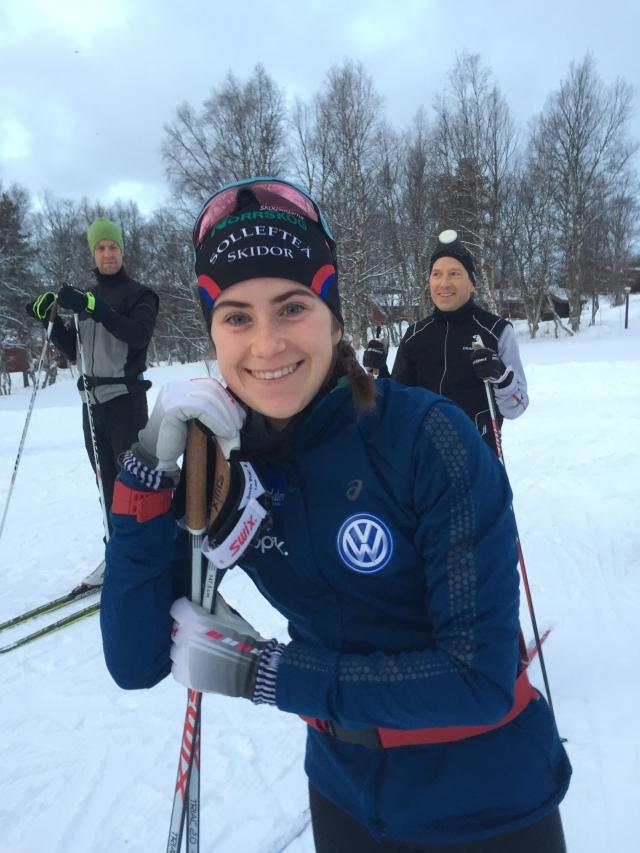 Ebba Andersson, Sveriges nya stjärnskott, var på plats och träna i Vålådalen